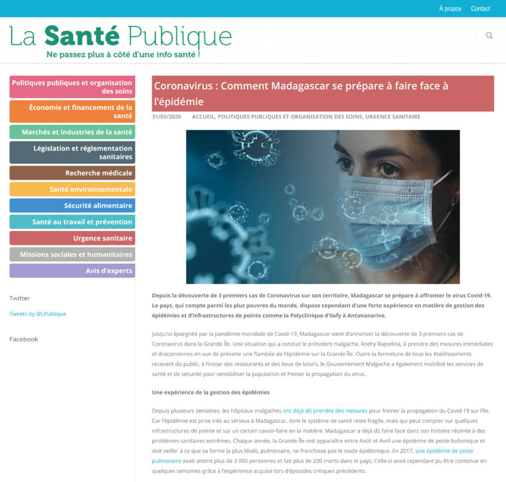 Polyclinique Ilafy La Santé Publique